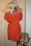 Amanda Uprichard coral shirt dress $194