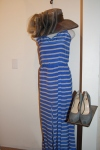 Kolae stripe dress $329 Something special grey hat $106 Kelsi dagger pump $115